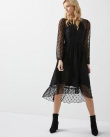 Lace Fit and flare midi dress