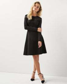 Fit and flare dress with lace