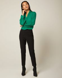 High-waist cropped straight leg legging Pant