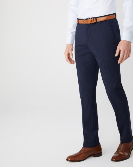 Slim fit two-tone Navy suit pant