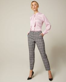 Pastel plaid Slim Leg Ankle Pant