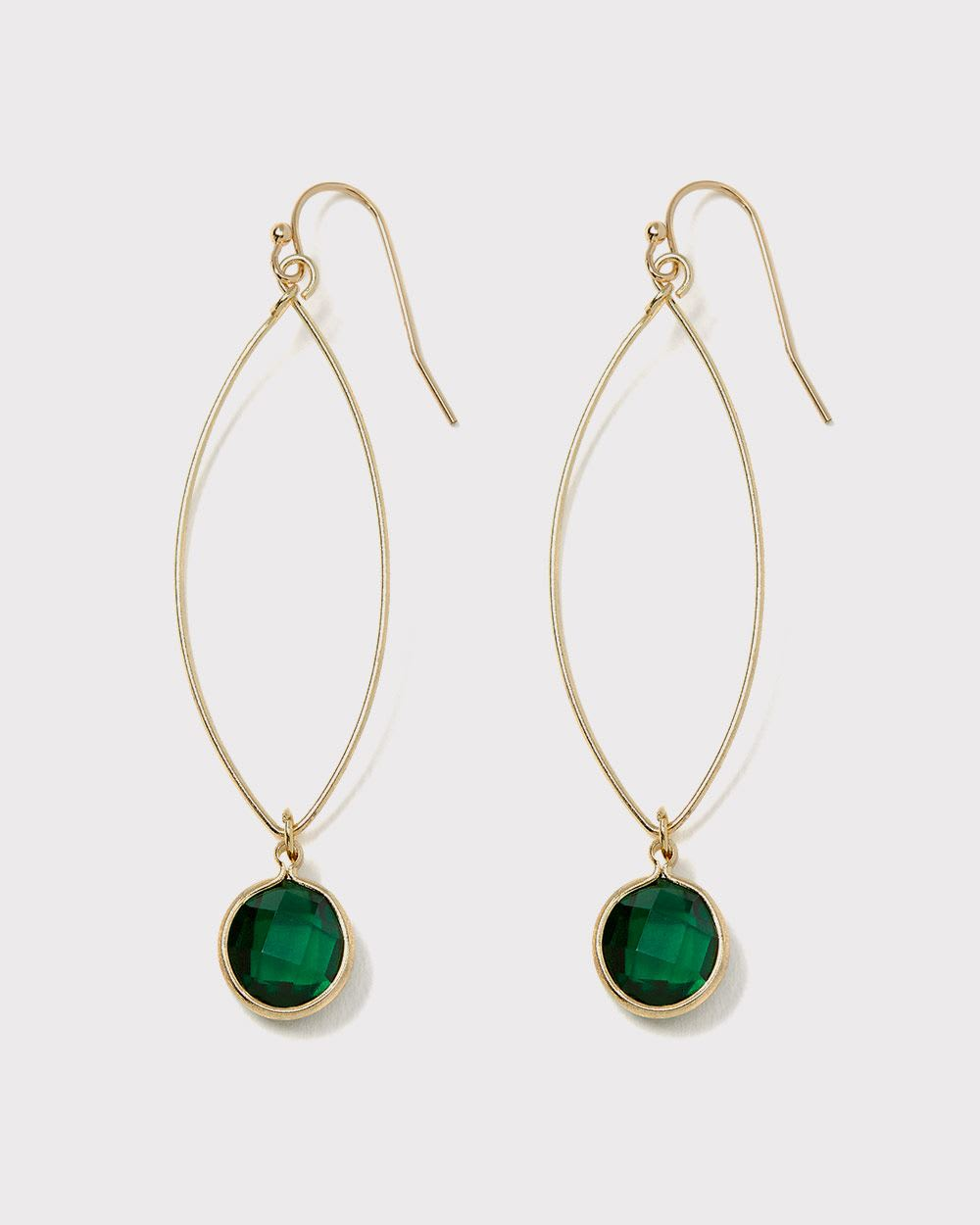 Dainty glass drop earrings