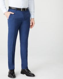 Essential Tailored Fit blue wool-blend suit Pant - Tall