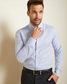 Slim Fit micro dobby Dress Shirt