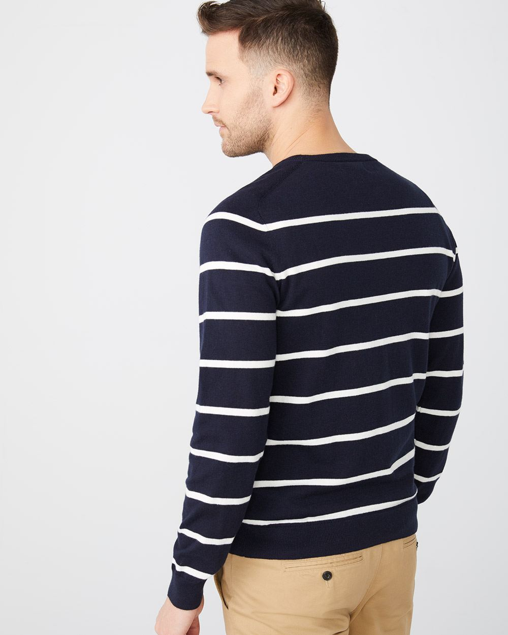 Stiped Crew-neck sweater
