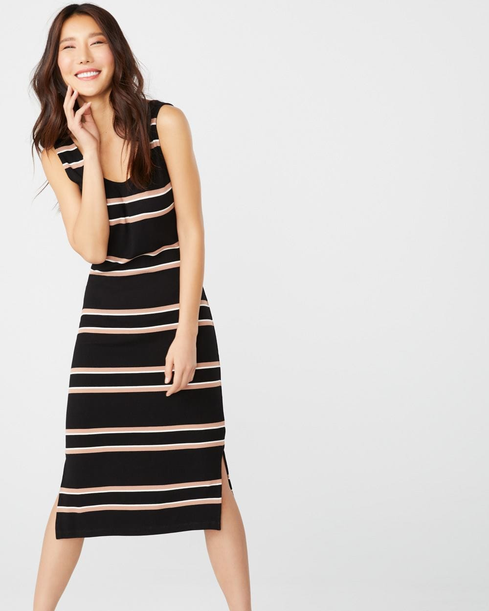 82ce87a98 Fitted Striped midi dress | RW&CO.