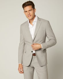 Tailored Fit Light Beige Suit Blazer