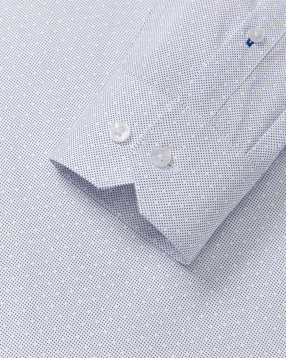 Tailored Fit Dots Pattern Dress Shirt