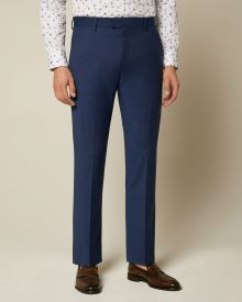 Essential Tailored Fit blue wool-blend suit Pant - Short