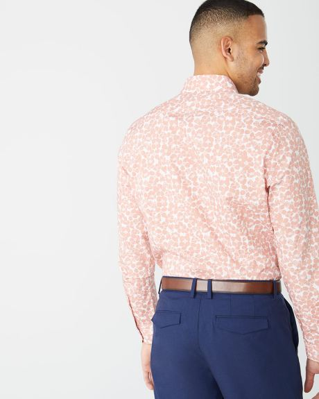 Athletic Fit coral flowers Dress Shirt