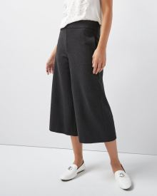 C&G Heather Grey Pull-on wide crop leg pant