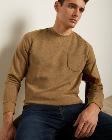 Crew-Neck Sweater with Pocket