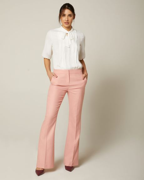 Heather pink High-waist Signature fit flare leg Pant