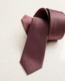 Regular pink geo pattern tie