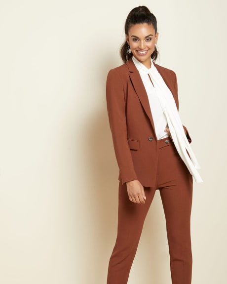 Rust brown high-waist Signature fit Slim Leg Ankle Pant