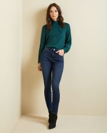 Natalie High-waisted Jegging in Rinse wash denim - 30''