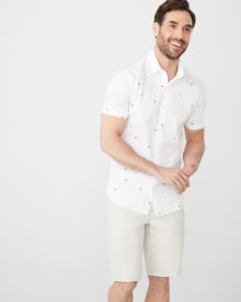Slim Fit Short Sleeve summer print Shirt