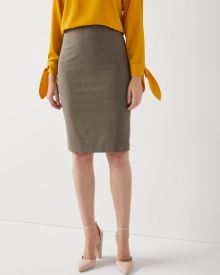 Taupe Grey Flannel pencil skirt