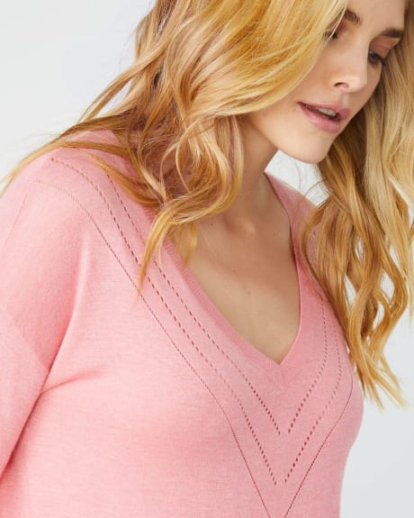 Lightweight Cashmere-like V-neck sweater