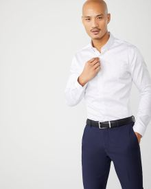 Slim Fit two-tone dot dress shirt