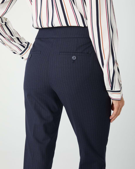 Stretch Navy Pinstripe Signature fit Slim Leg Ankle Pant