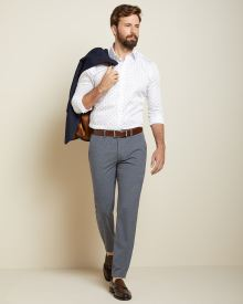 Slim fit grey and blue check City Pant