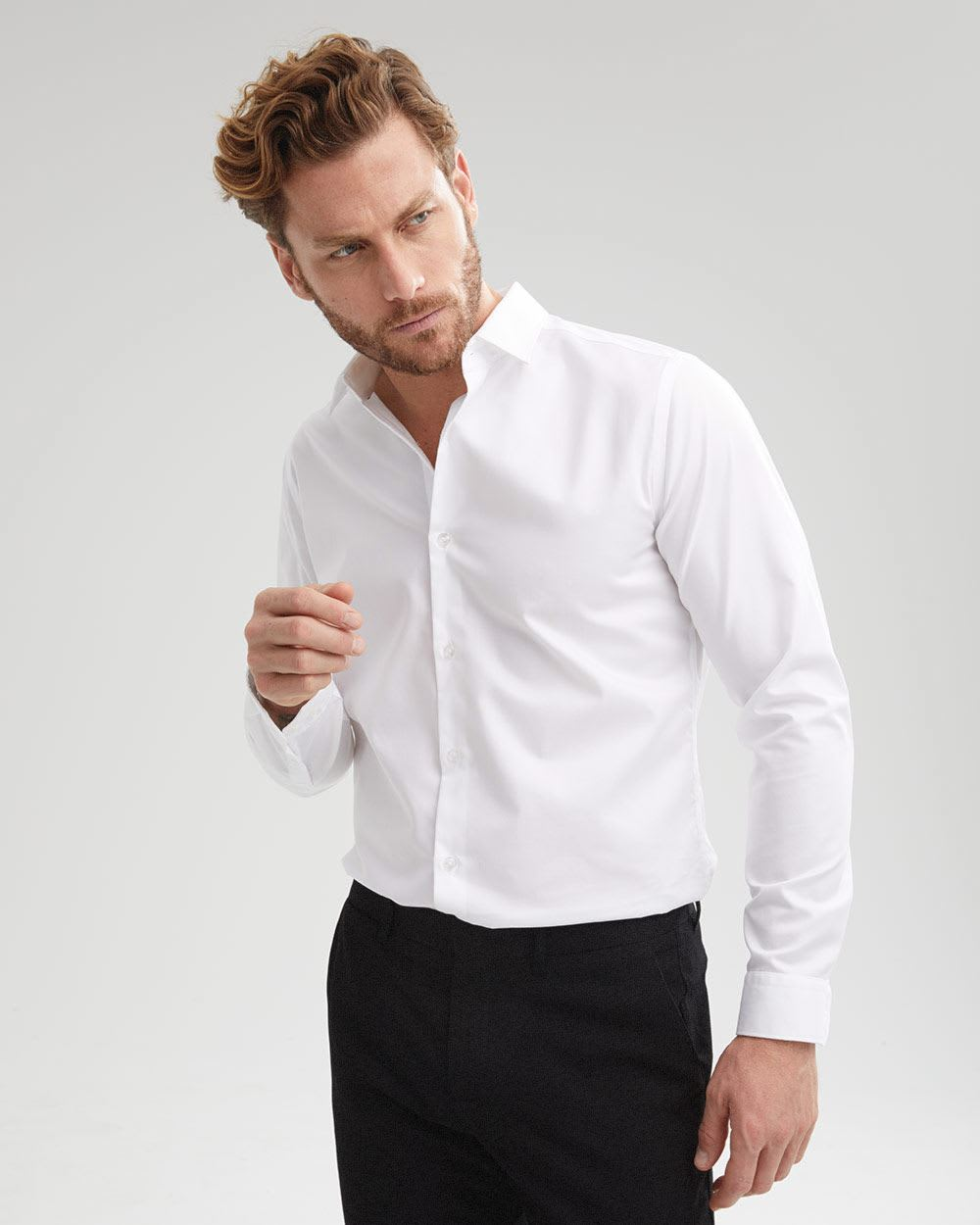 Tailored Fit solid Dress Shirt - Tall