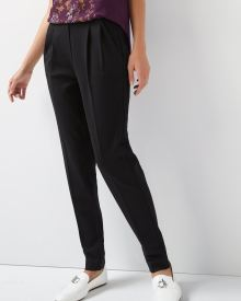 C&G Black Pleated Pant