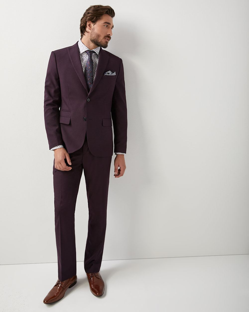 Tailored fit two-tone pant