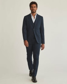 Essential Slim Fit navy suit pant