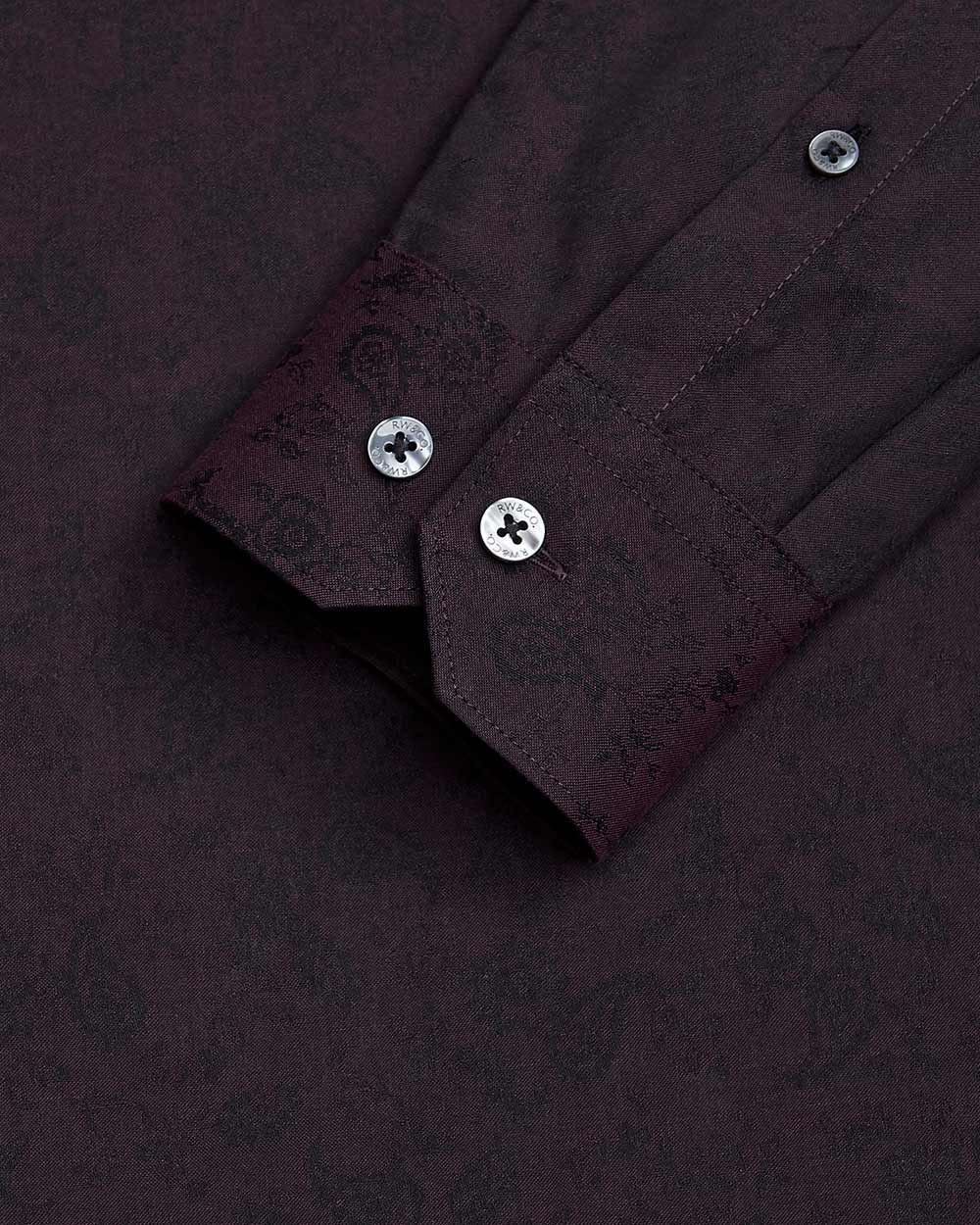 Tailored Fit tonal paisley dress shirt