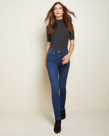 Natalie High-waisted Jegging in Rinse wash denim - 32''