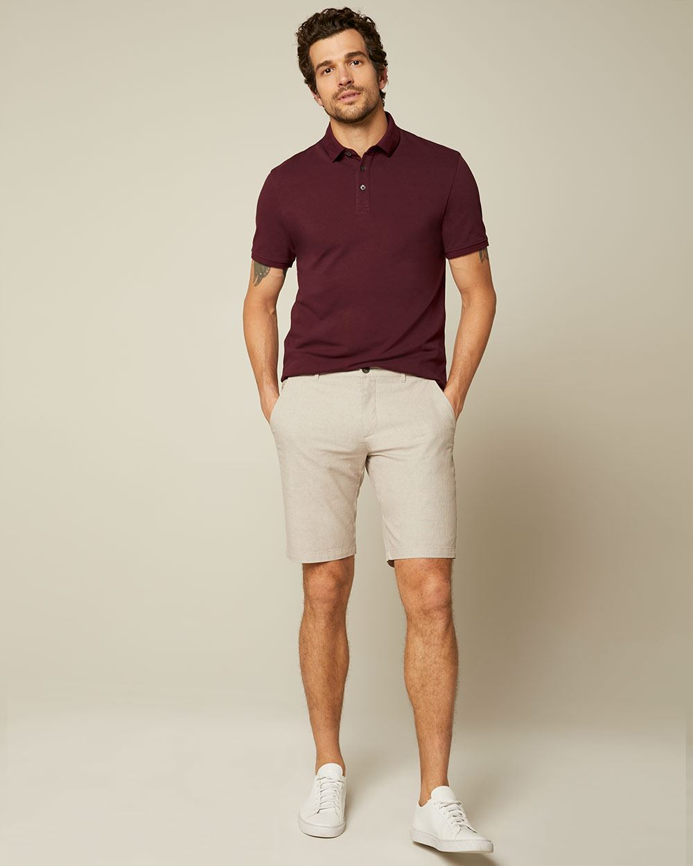 Short Sleeve stretch piqué polo
