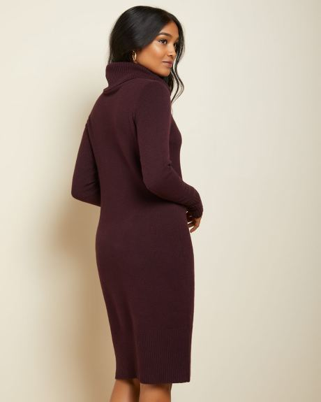 C&G Long sleeve Cowl-neck Sweater dress