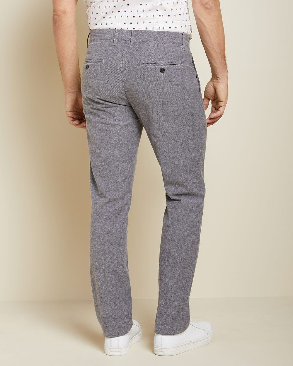 Slim fit slash pocket birdseye pant
