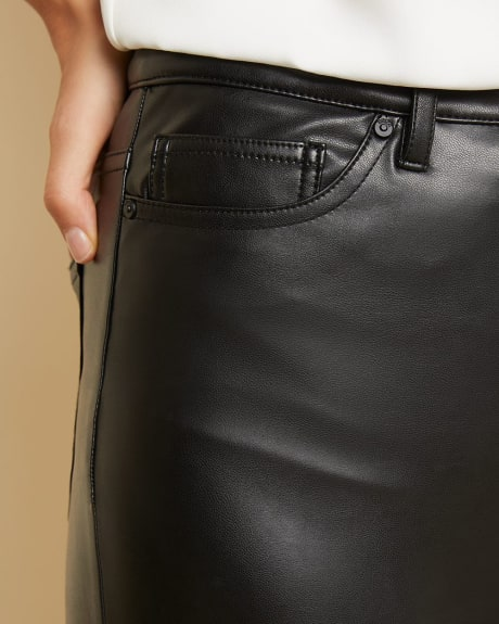Faux leather high-rise pant