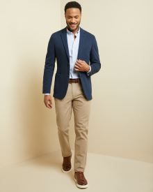Slim fit Textured weave 5-pocket pant
