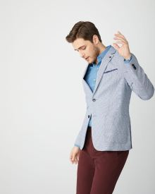 Slim fit houndstooth blazer