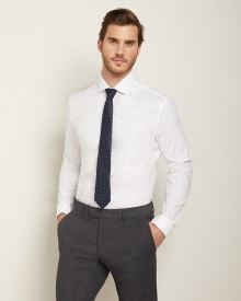 Athletic fit dress shirt with french cuff