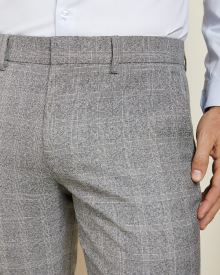 Slim fit heather grey check City Pant