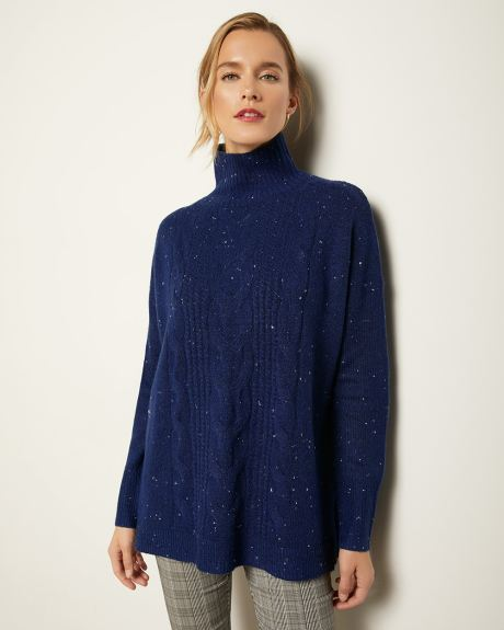 C&G Relax Fit Spongy Knit Cable Sweater