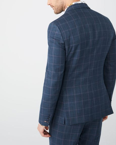 Tailored Fit windowpane suit blazer