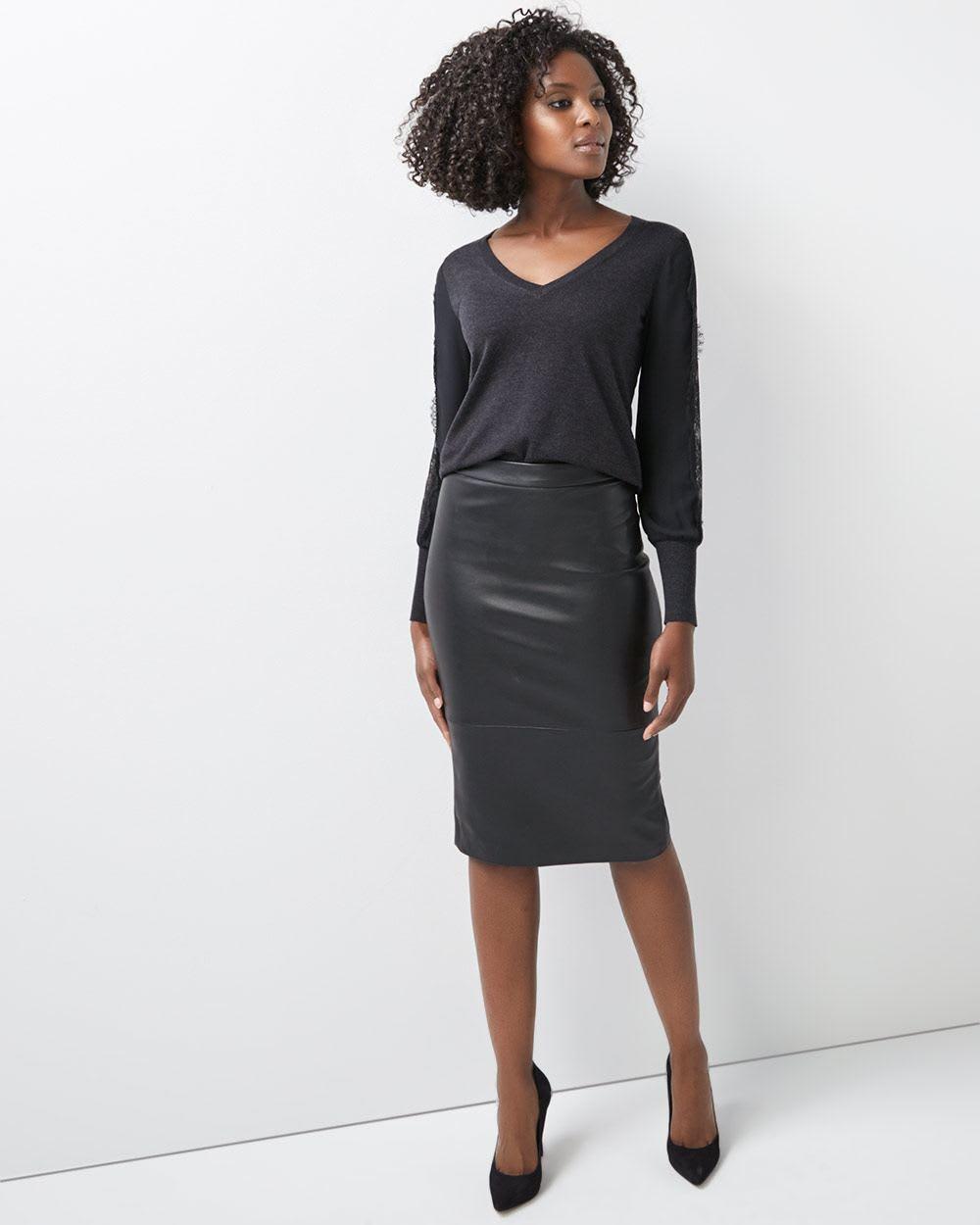 4300d2b6330 High-Waist Faux leather pencil skirt | RW&CO.