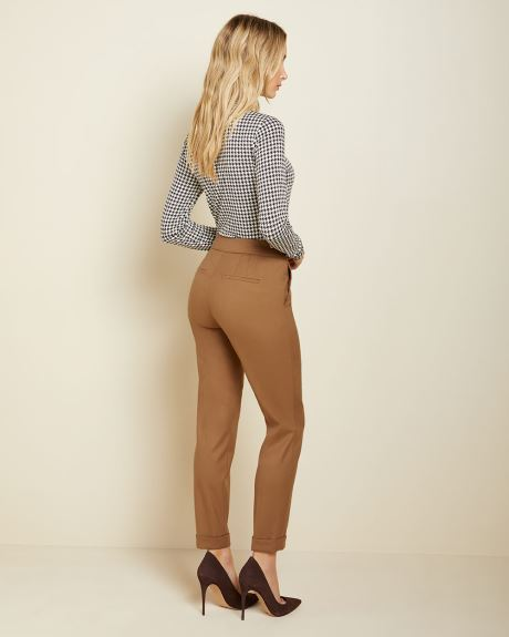 Flannel Curvy fit Slim Leg Ankle Pant