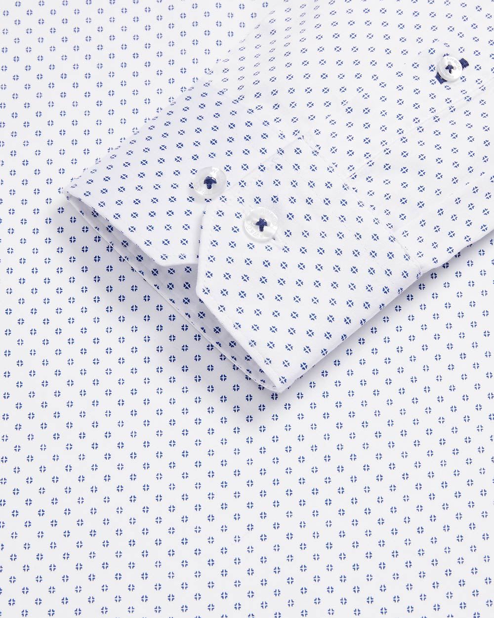 Tailored fit geo pattern essential dress shirt