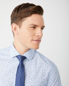 Tailored Fit mini floral dress shirt - Short