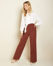 Rust brown high-waist Signature fit wide Leg Pant