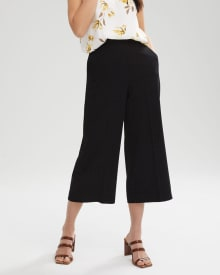 High-Waist Wide Crop Leg Pant