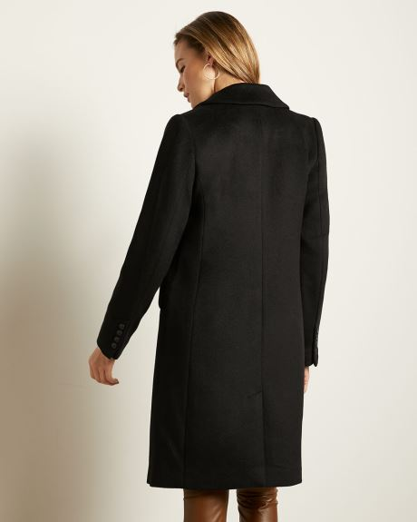 Fitted Wool-Blend Coat