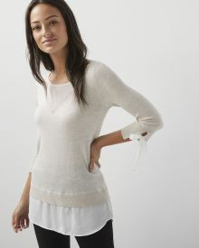 C&G Mixed media tunic sweater